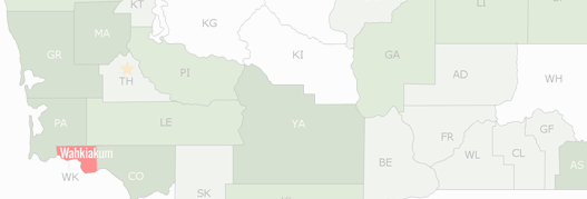 Wahkiakum County Map