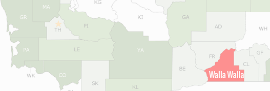 Walla Walla County Map